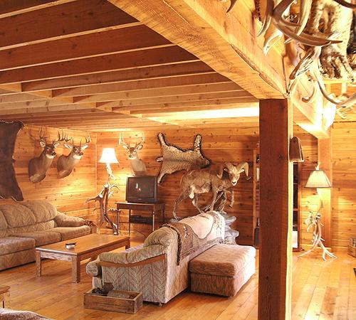 Wayne Hill Outfitting Lodge Living Room